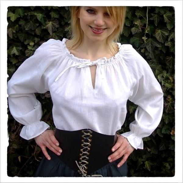 mittelalterliche Baumwoll-Bluse