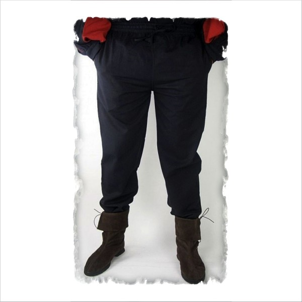einfache mittelalter-Hose mit Gummizug, Übergröße