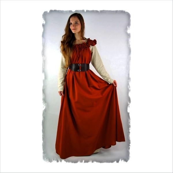 """bodenlanges Kleid mit Schulterrüsche """"Clara"""""""