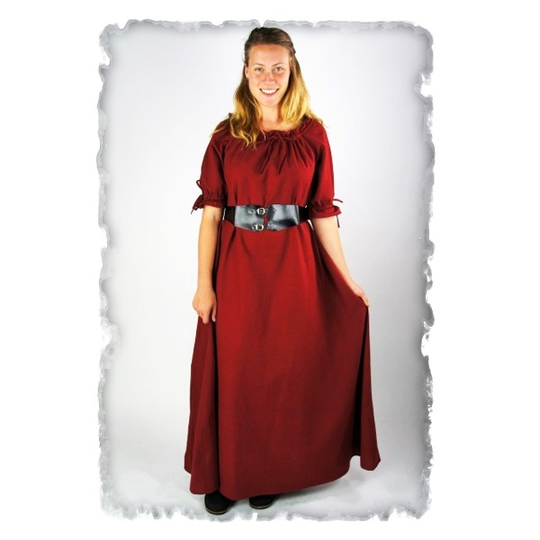 bodenlanges Kurzarmkleid